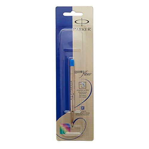 PARKER QUINKflow  Ballpoint Pen Ink Refill, Medium Tip, Blue, 1 Count (Pen Refill Ballpoint Parker)