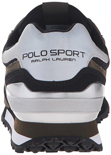 Polo Ralph Lauren Menns Slaton Mote Sneaker Dypt Loden / Svart