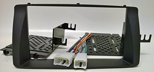 Double din car radio Installation package for replacing a factory radio in a Toyota Corolla (2003-2008)