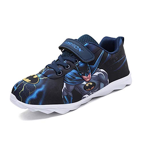 SPKIDS Kids Boys Batman Sneakers Girls Hello Kitty Casual Shoes(10 M US Toddler,Navy)