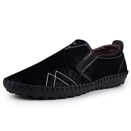 Jeansian Men's Loafers Shoes Black 9 US SHA011