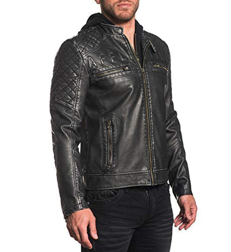 Affliction Dirty Valley Moto Jacket - Black - 2X-Large ()