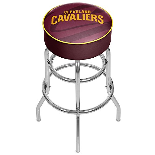 Trademark Gameroom NBA1000-CC2 NBA Padded Swivel bar Stool - Fade - Cleveland (Cleveland Cavaliers Nba Bar Stool)