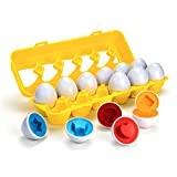 Apecks - Color Shapes Matching Egg Set - Toddler Toys - Educational Color, Shapes & Sorting Recognition Skills - Sorting Puzzle for Boys, Girls - Montessori