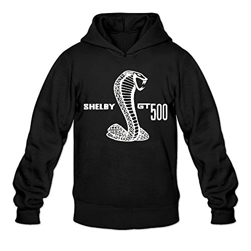 Shelby Viper Gt 500 Classic Men's Hooded Sweatshirts Black L