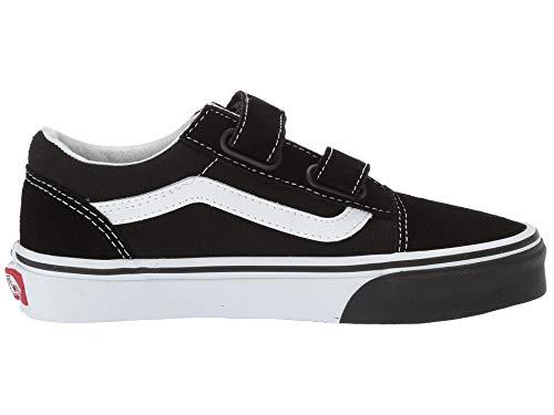 498dd573bac02 Vans Kids K Old Skool V Flame Cut Out Black True White Size 13 ...