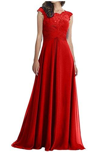 Promkleider Braut Jugenweihe Kleider Rot Abendkleider Spitze Brautmutterkleider La Langes Damen mia Elfenbein z0n1f1Ux