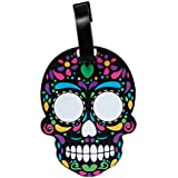 Mexican Skull Calavera Dia de muertos SuitCase label - travel ID for suitcase