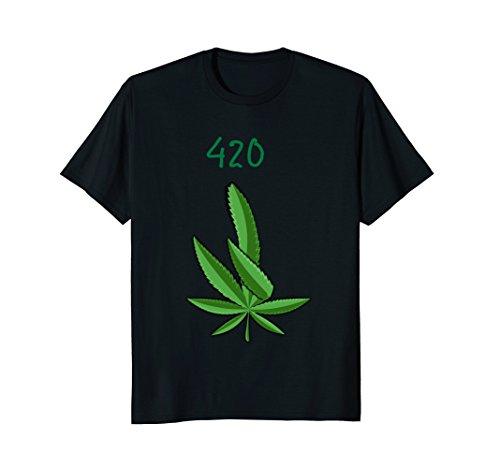 Happy 420 Funny Dabbing Leaf Shirt