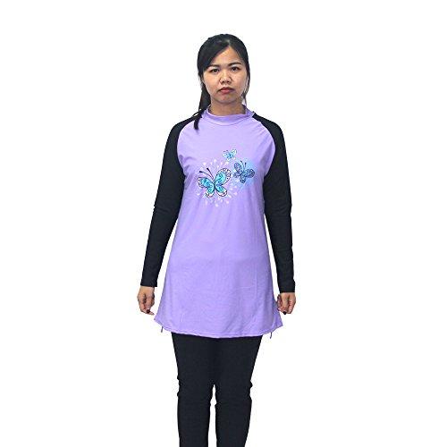 405918d94f Muslim Swimwear Full Body Swimsuit for Women 3 Piece Full Coverage Hijab  Swimwear for Sun Protection Islamic Modest Swimsuit - Buy Online in Oman.