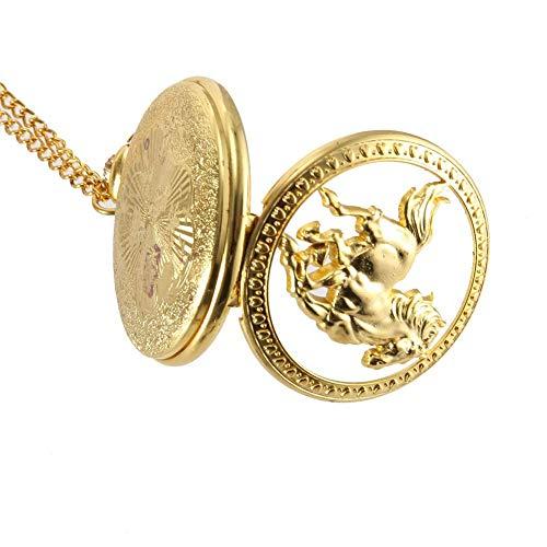 ZJZ Ny vintage fickur kvartsur cool kedja gyllene ihåligt hästskydd klockor