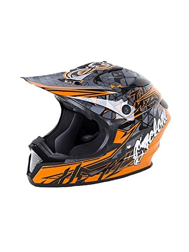 Cyclone ATV MX Dirt Bike Off-Road Helmet DOT/ECE Approved - Orange - Large - Motocross Gear Closeouts