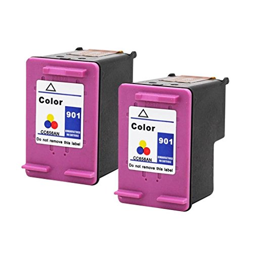 JS Fulfilled 2 Pack HP 901 Color Ink Cartridge For Office...