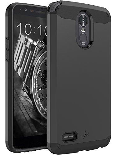 LK Case for LG Stylo 3, LG Stylo 3 Plus, [Gladiator Series] Shock Absorption Hybrid Armor Defender Protective Case Cover for LG Stylo 3 / LG Stylo 3 Plus (Black) (Phone Case For Lg 3)