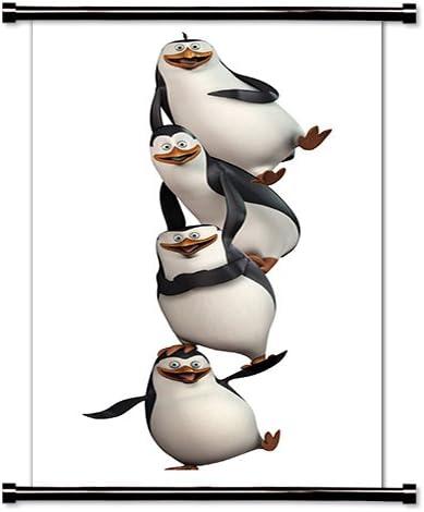 Los Pingüinos De Madagascar Serie De Televisión Animada Tela Póster De Desplazamiento De Pared 16 X 33 Pulgadas Home Kitchen