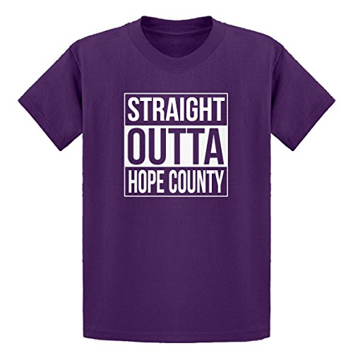 Price comparison product image Indica Plateau Youth Straight Outta Hope County X-Small Purple Kids T-Shirt