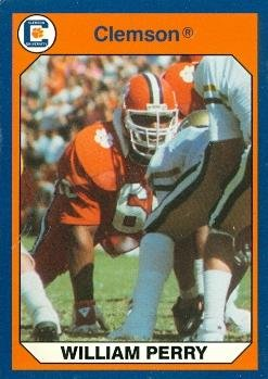 William Perry Football Card (Clemson) 1990 Collegiate Collection #1