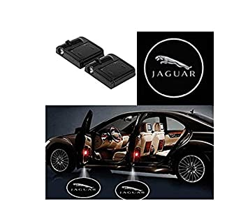 Ephvan 2 pcs Wireless car Door Led Welcome Laser Projector Logo Light Ghost Shadow Light Lamp Logos for jaguar Volvo