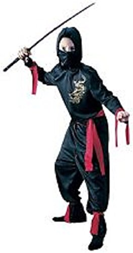 Sash Geisha Costume (Red Ninja Child Halloween Costume Large)