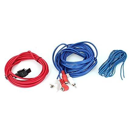 La energía del coche RCA en línea portafusibles kit de altavoces de Audio cableado del amplificador