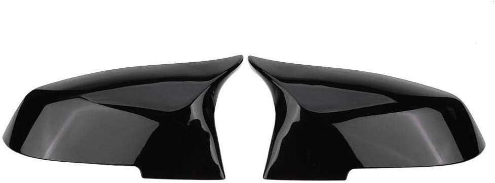 HGY Rearview Mirror Cover Cap compatible with BMW 220i 328i 420i F20 F21 F22 F30 F32 F33 F36 X1 Glossy Black
