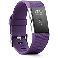 Fitbit Charge 2 Fitness Activity Wristband (Large) - Plum - Refurbished