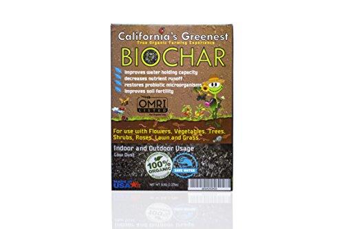 California's Greenest Biochar Box - Low Dust - Indoor / Outdoor - All Natural & OMRI Organic - (3lbs)
