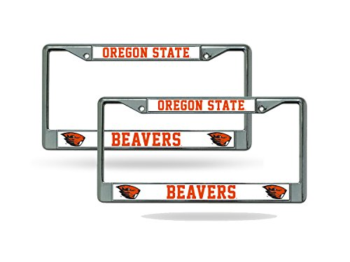 Oregon State Logo Plate (Oregon State Beavers Chrome License Plate Frame - Set of 2)