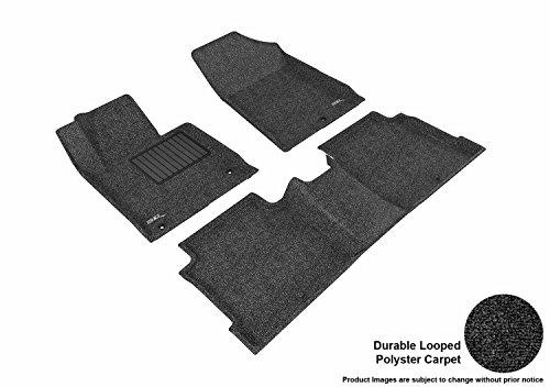 - 3D MAXpider Custom Fit Complete Floor Mat Set for Select Hyundai Sonata Models - Classic Carpet (Black)