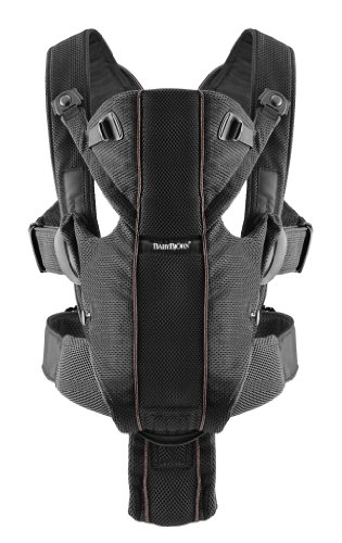 BABYBJORN Baby Carrier Miracle - Black, Mesh