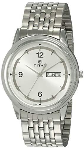 Titan Karishma Analog Silver Dial Men's Watch -NK1638SM01 / NK1638SM01