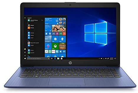 HP Stream 14 inches HD(1366x768) Display, Intel Celeron N4000 Dual-Core Processor, 4GB RAM, 64GB eMMC, HDMI, WiFi, Webcam, Bluetooth, Win10 S, Royal Blue(Renewed)