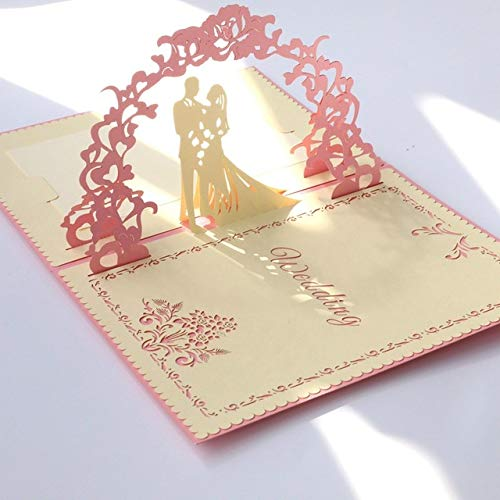 3D-Geschenkkarte Pop-Up-Karte, handgemacht, Regenbogentür, Geburtstag, Blaumenkarte, Blaumenkarte, Blaumenkarte, Hochzeit, Einladungskarte, Weihnachten, Halloween, Abschlussfeier, (5 Stück),rot B07QG939MD   Glücklicher Startpunkt  4d5e7e