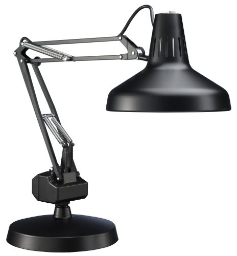 Luxo LC2FEBK LC 22W Circline Fluorescent with 14W CFL Task Light, 30