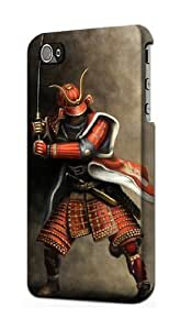 S0796 Japan Red Samurai Case Cover for Iphone 5 5s