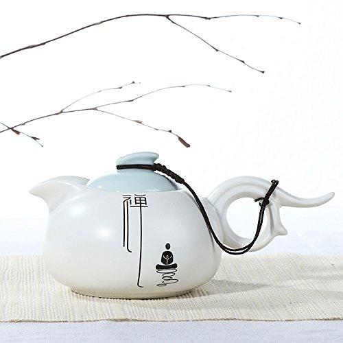Clg Matte - CLG-FLY Ceramic tea kungfu teapot celadon pot Zen mantra of matte white porcelain pot,2