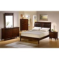 Tamara II Platform 4PC Queen Size Bedroom Group in Natural Walnut Finish!
