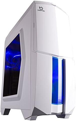 Hiditec NG-X1 BLACK - Caja de ordenador, Micro ATX - ITX, 3 ventiladores de 120mm, estructura acero y plástico, gráficas hasta 345mm, 486mm x 200mm x 447mm, color blanco: Hiditec: Amazon.es: Informática
