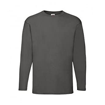 Fruit of the Loom Mens Valueweight Long Sleeve Baseball T-Shirt Casual Sports T