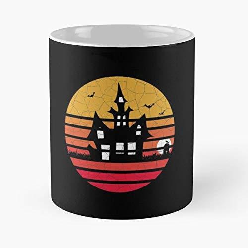 Halloween Distressed Vintage Retro - Best Gift Ceramic Coffee Mugs 11 Oz