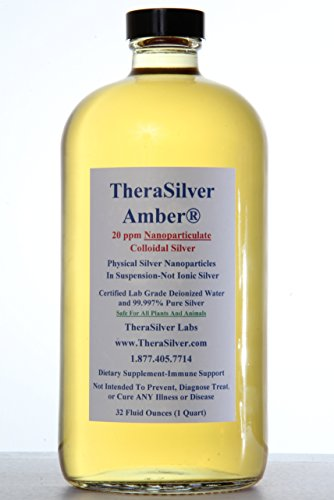 32 Ounce TheraSilver Amber Colloidal Silver 20ppm