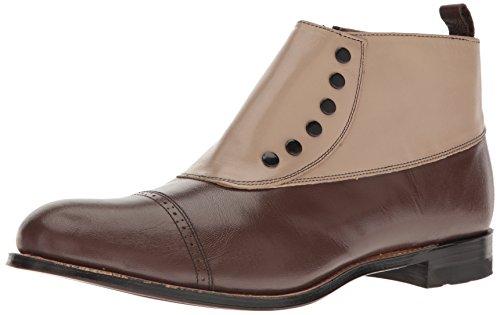 Stacy Adams Men's Madison Cap-Toe Spat Boot,Brown Multi,11 D - Sw 249