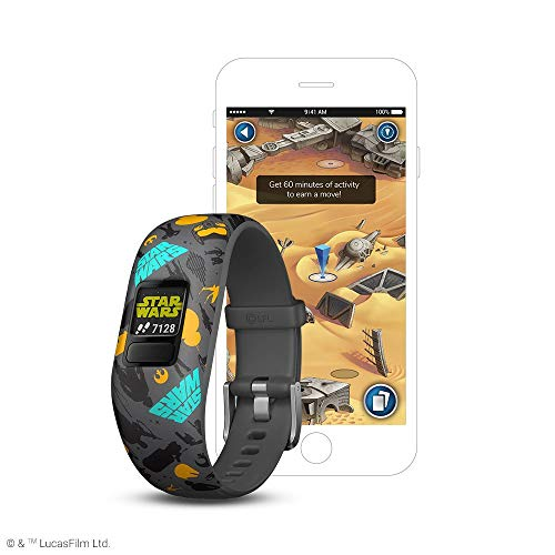 (Garmin vívofit jr 2, Kids Fitness/Activity Tracker, Star Wars The Resistance, 1-year Battery Life (Renewed))