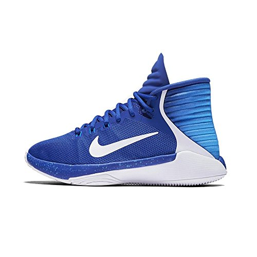 NIKE Prime Hype DF 2016 GS - 845096400 - Color White-Blue - Size: 4.5 by NIKE