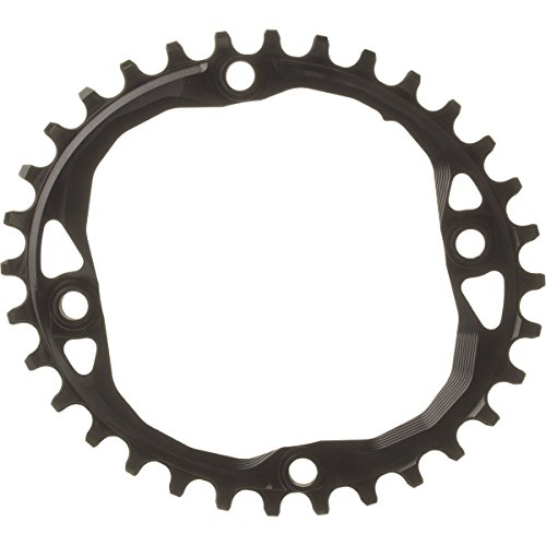 - ABSOLUTE BLACK SRAM Oval Traction Chainring Black/104 BCD, 32t/Threaded