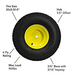MARASTAR 21424 20X8.00-8 Rear Tire Assembly Replac