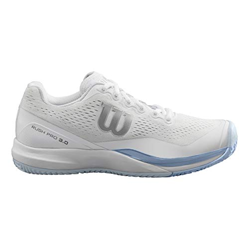 Terrain Chaussure 3 Tennis Pro Blanc Femmes 0 3 Tout 2 37 Clair De Chaussures Wilson Bleu Rush Av0qwaa8