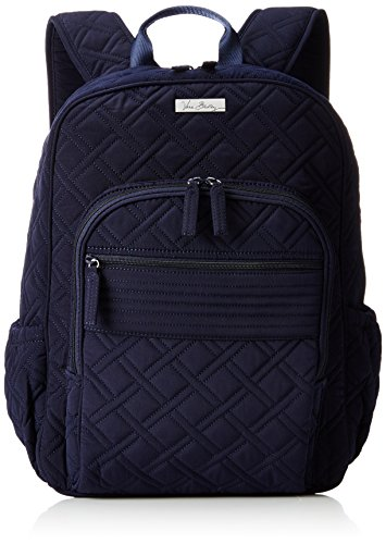 Women's Campus Tech Backpack, Microfiber, Classic Navy by Vera Bradley