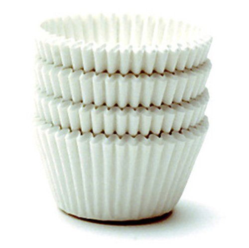 Norpro Giant Muffin Cups, White, Pack of 48 - Jumbo Cupcake Wrappers