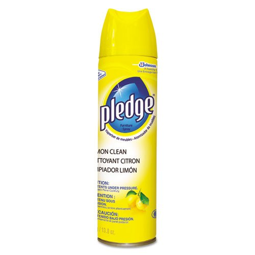 Pledge Furniture Polish, Lemon, 13.8 oz, Aerosol - six cans per case. by Pledge
